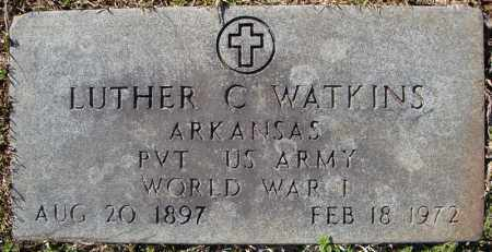 WATKINS (VETERAN WWI), LUTHER C - Faulkner County, Arkansas | LUTHER C WATKINS (VETERAN WWI) - Arkansas Gravestone Photos