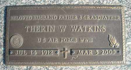 WATKINS (VETERAN WWII), THERIN W - Faulkner County, Arkansas | THERIN W WATKINS (VETERAN WWII) - Arkansas Gravestone Photos