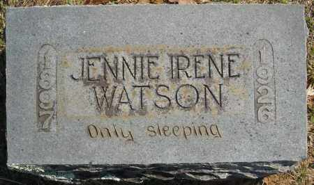WATSON, JENNIE IRENE - Faulkner County, Arkansas | JENNIE IRENE WATSON - Arkansas Gravestone Photos