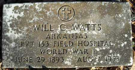 WATTS  (VETERAN WWI), WILL C - Faulkner County, Arkansas | WILL C WATTS  (VETERAN WWI) - Arkansas Gravestone Photos