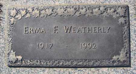WEATHERLY, ERMA F. - Faulkner County, Arkansas | ERMA F. WEATHERLY - Arkansas Gravestone Photos