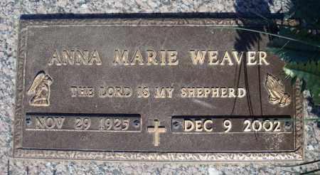 WEAVER, ANNA MARIE - Faulkner County, Arkansas | ANNA MARIE WEAVER - Arkansas Gravestone Photos