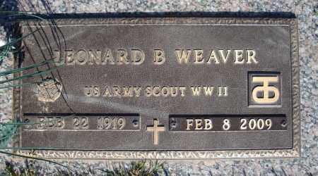 WEAVER (VETERAN WWII), LEONARD B - Faulkner County, Arkansas | LEONARD B WEAVER (VETERAN WWII) - Arkansas Gravestone Photos