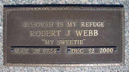 WEBB, ROBERT J. - Faulkner County, Arkansas | ROBERT J. WEBB - Arkansas Gravestone Photos
