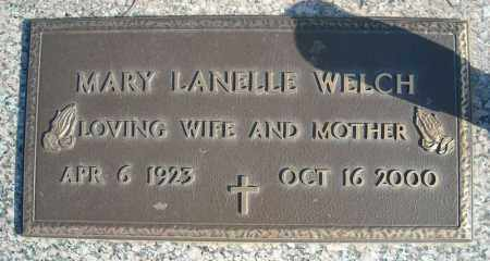 WELCH, MARY LANELLE - Faulkner County, Arkansas | MARY LANELLE WELCH - Arkansas Gravestone Photos