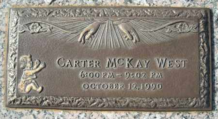 WEST, CARTER MCKAY - Faulkner County, Arkansas | CARTER MCKAY WEST - Arkansas Gravestone Photos