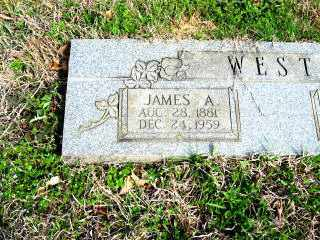WEST, JAMES A. (CLOSEUP) - Faulkner County, Arkansas | JAMES A. (CLOSEUP) WEST - Arkansas Gravestone Photos