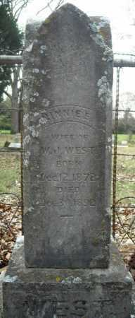 WEST, NINNIE E. - Faulkner County, Arkansas | NINNIE E. WEST - Arkansas Gravestone Photos