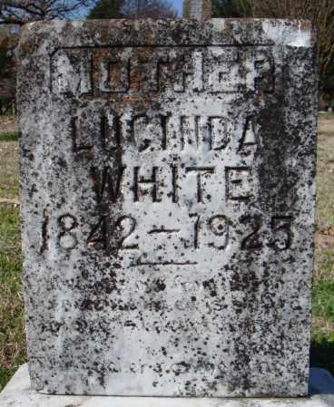 WHITE, LUCINDA - Faulkner County, Arkansas | LUCINDA WHITE - Arkansas Gravestone Photos