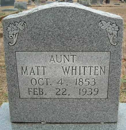 WHITTEN, MATT - Faulkner County, Arkansas | MATT WHITTEN - Arkansas Gravestone Photos