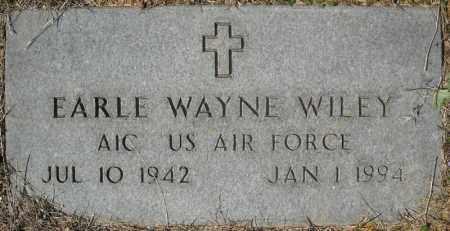 WILEY (VETERAN), EARLE WAYNE - Faulkner County, Arkansas | EARLE WAYNE WILEY (VETERAN) - Arkansas Gravestone Photos