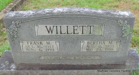 WILLETT, BERTHA M - Faulkner County, Arkansas | BERTHA M WILLETT - Arkansas Gravestone Photos