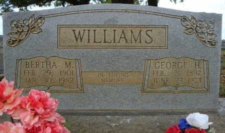 WILLIAMS, GEORGE H. - Faulkner County, Arkansas | GEORGE H. WILLIAMS - Arkansas Gravestone Photos