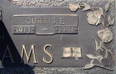 WILLIAMS, CURTIS E.  (CLOSE UP) - Faulkner County, Arkansas | CURTIS E.  (CLOSE UP) WILLIAMS - Arkansas Gravestone Photos