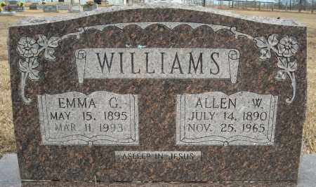 WILLIAMS, ALLEN W. - Faulkner County, Arkansas | ALLEN W. WILLIAMS - Arkansas Gravestone Photos