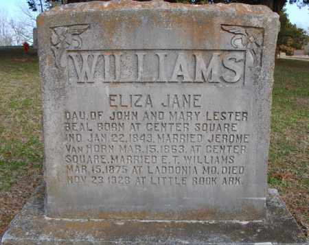 WILLIAMS, ELIZA JANE - Faulkner County, Arkansas | ELIZA JANE WILLIAMS - Arkansas Gravestone Photos