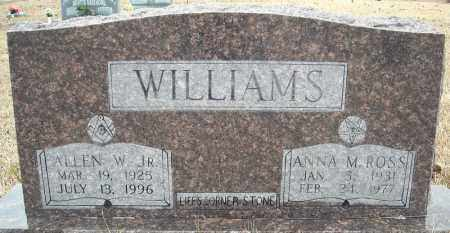 ROSS WILLIAMS, ANNA M. - Faulkner County, Arkansas | ANNA M. ROSS WILLIAMS - Arkansas Gravestone Photos
