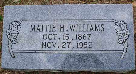WILLIAMS, MATTIE H. - Faulkner County, Arkansas | MATTIE H. WILLIAMS - Arkansas Gravestone Photos