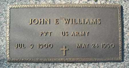 WILLIAMS (VETERAN), JOHN E - Faulkner County, Arkansas | JOHN E WILLIAMS (VETERAN) - Arkansas Gravestone Photos