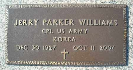WILLIAMS (VETERAN KOR), JERRY PARKER - Faulkner County, Arkansas | JERRY PARKER WILLIAMS (VETERAN KOR) - Arkansas Gravestone Photos