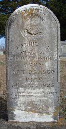 WILSON, FANNIE A. - Faulkner County, Arkansas | FANNIE A. WILSON - Arkansas Gravestone Photos