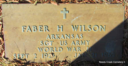 WILSON (VETERAN WWII), FABER H - Faulkner County, Arkansas | FABER H WILSON (VETERAN WWII) - Arkansas Gravestone Photos