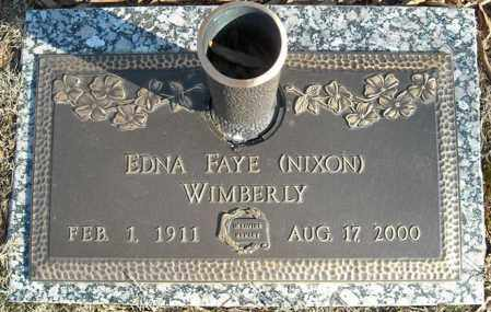 WIMBERLY, EDNA FAYE - Faulkner County, Arkansas | EDNA FAYE WIMBERLY - Arkansas Gravestone Photos