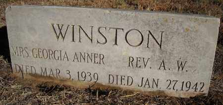 WINSTON, GEORGIA ANNER - Faulkner County, Arkansas | GEORGIA ANNER WINSTON - Arkansas Gravestone Photos