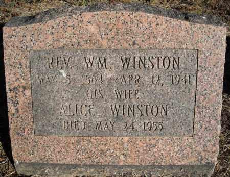 WINSTON, REV., WM. - Faulkner County, Arkansas | WM. WINSTON, REV. - Arkansas Gravestone Photos