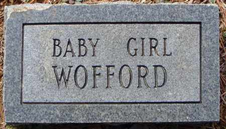 WOFFORD, BABY GIRL - Faulkner County, Arkansas | BABY GIRL WOFFORD - Arkansas Gravestone Photos
