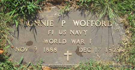 WOFFORD (VETERAN WWI), LONNIE P - Faulkner County, Arkansas | LONNIE P WOFFORD (VETERAN WWI) - Arkansas Gravestone Photos