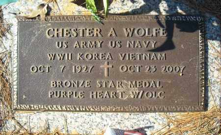 WOLFE (VETERAN 3 WARS), CHESTER A - Faulkner County, Arkansas | CHESTER A WOLFE (VETERAN 3 WARS) - Arkansas Gravestone Photos
