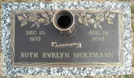 WOLTMANN, RUTH EVELYN - Faulkner County, Arkansas | RUTH EVELYN WOLTMANN - Arkansas Gravestone Photos