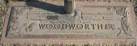 WOODWORTH, MINNIE L. (WOODIE) - Faulkner County, Arkansas | MINNIE L. (WOODIE) WOODWORTH - Arkansas Gravestone Photos