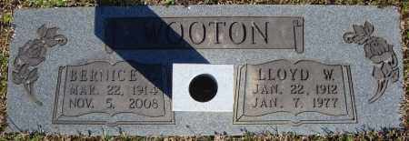 WOOTON, BERNICE - Faulkner County, Arkansas | BERNICE WOOTON - Arkansas Gravestone Photos