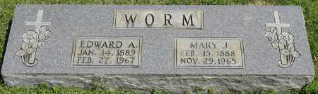 WORM, MARY J. - Faulkner County, Arkansas | MARY J. WORM - Arkansas Gravestone Photos