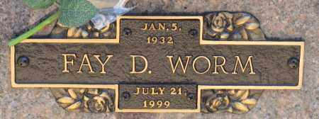 WORM, FAY D. - Faulkner County, Arkansas | FAY D. WORM - Arkansas Gravestone Photos