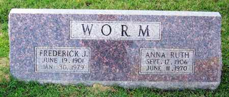 WORM, ANNA RUTH - Faulkner County, Arkansas | ANNA RUTH WORM - Arkansas Gravestone Photos
