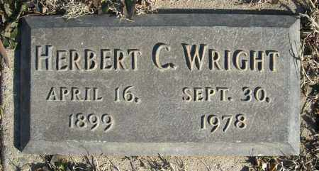 WRIGHT, HERBERT C. - Faulkner County, Arkansas | HERBERT C. WRIGHT - Arkansas Gravestone Photos