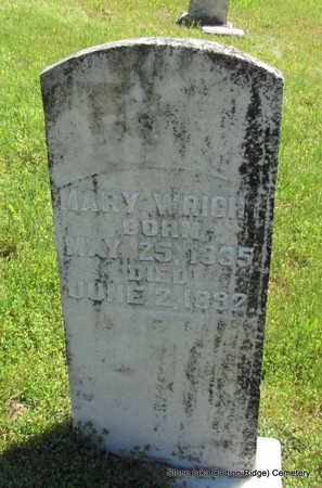 WRIGHT, MARY - Faulkner County, Arkansas   MARY WRIGHT - Arkansas Gravestone Photos