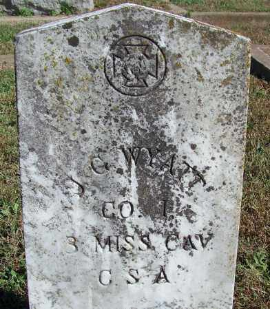 WYATT (VETERAN CSA), J G - Faulkner County, Arkansas | J G WYATT (VETERAN CSA) - Arkansas Gravestone Photos