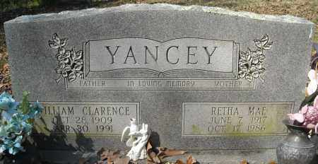 YANCEY, WILLIAM CLARENCE - Faulkner County, Arkansas | WILLIAM CLARENCE YANCEY - Arkansas Gravestone Photos