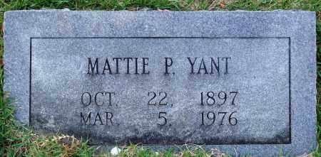 YANT, MATTIE P. - Faulkner County, Arkansas | MATTIE P. YANT - Arkansas Gravestone Photos