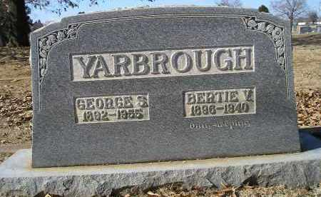 YARBROUGH, BERTIE V - Faulkner County, Arkansas | BERTIE V YARBROUGH - Arkansas Gravestone Photos