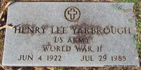 YARBROUGH (VETERAN WWII), HENRY LEE - Faulkner County, Arkansas | HENRY LEE YARBROUGH (VETERAN WWII) - Arkansas Gravestone Photos