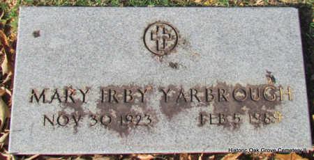 YARBROUGH, MARY IRBY - Faulkner County, Arkansas | MARY IRBY YARBROUGH - Arkansas Gravestone Photos