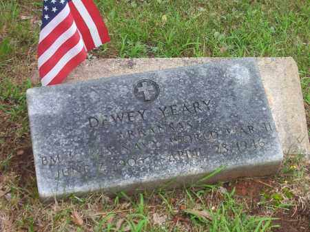 YEARY, DEWEY - Faulkner County, Arkansas | DEWEY YEARY - Arkansas Gravestone Photos