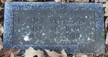 BELL YORK, FANNIE - Faulkner County, Arkansas | FANNIE BELL YORK - Arkansas Gravestone Photos