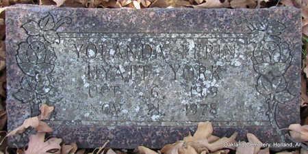 HYATT YORK, YOLANDA PERIN - Faulkner County, Arkansas | YOLANDA PERIN HYATT YORK - Arkansas Gravestone Photos