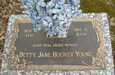 HOOVER YOUNG, BETTY JANE - Faulkner County, Arkansas | BETTY JANE HOOVER YOUNG - Arkansas Gravestone Photos